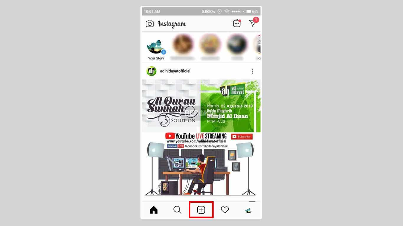 cara upload video instagram di hp