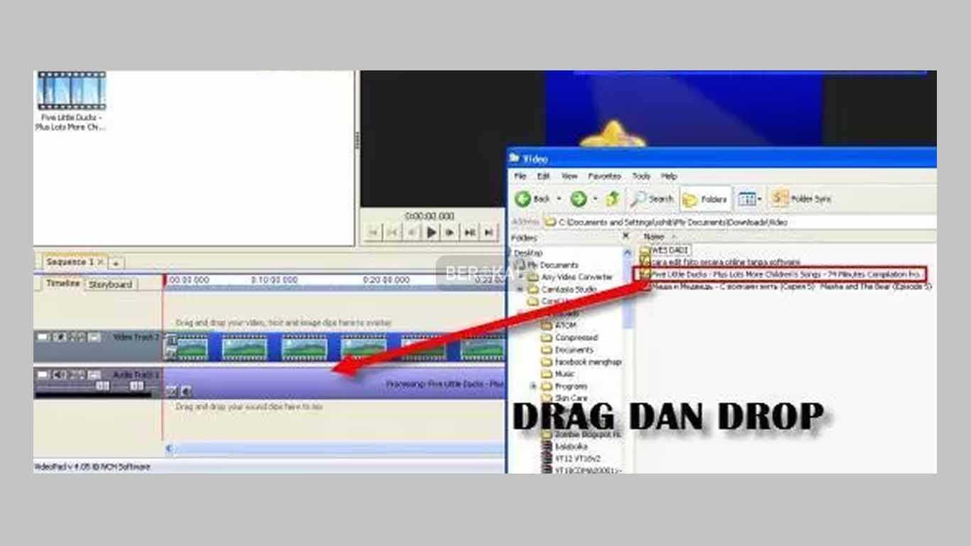drag drop video
