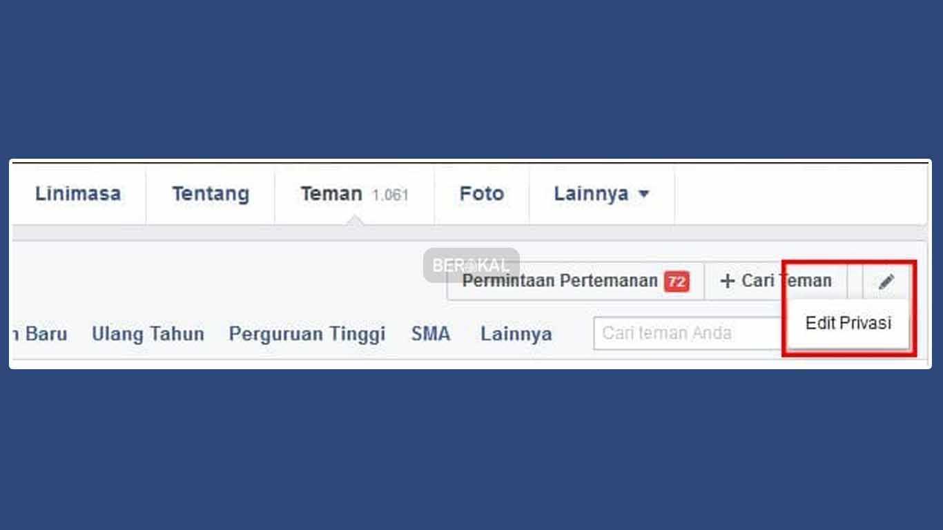 edit privasi facebook