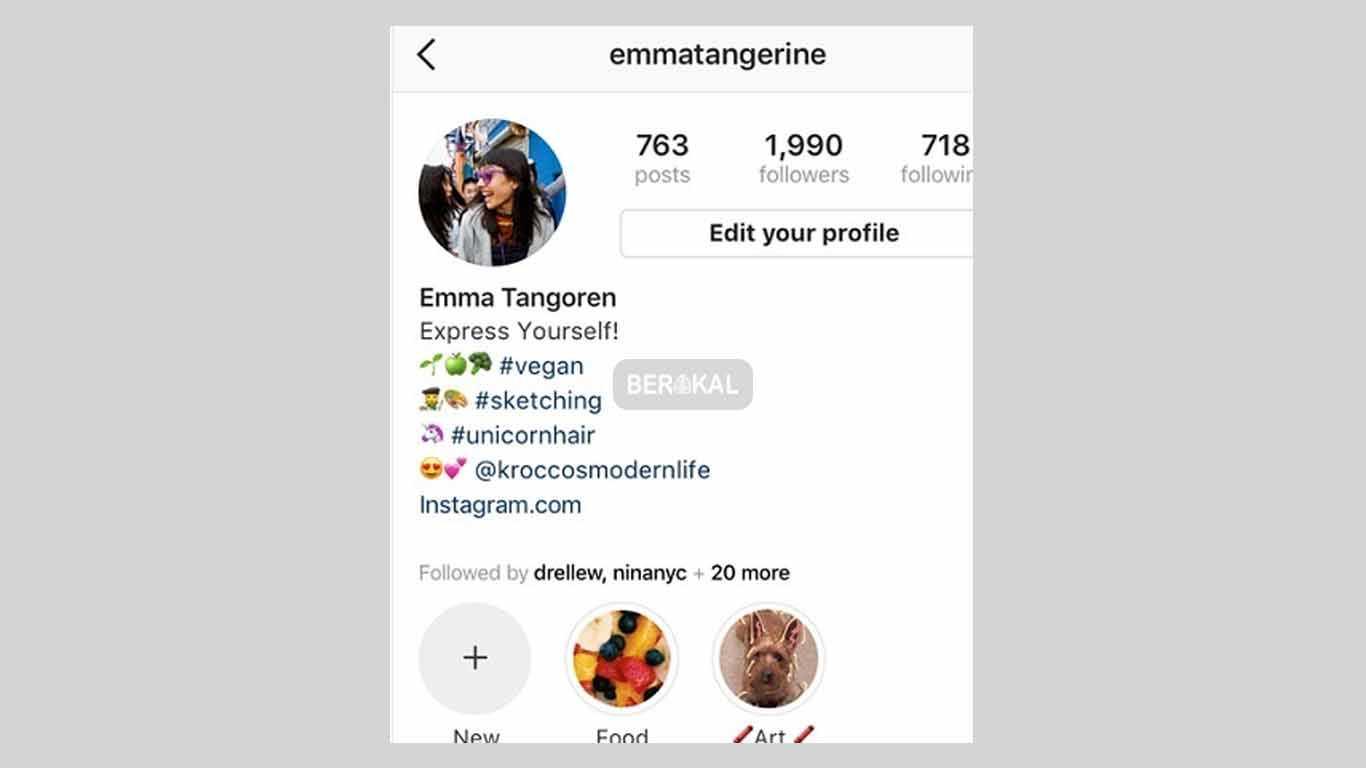 hashtag pada bio instagram