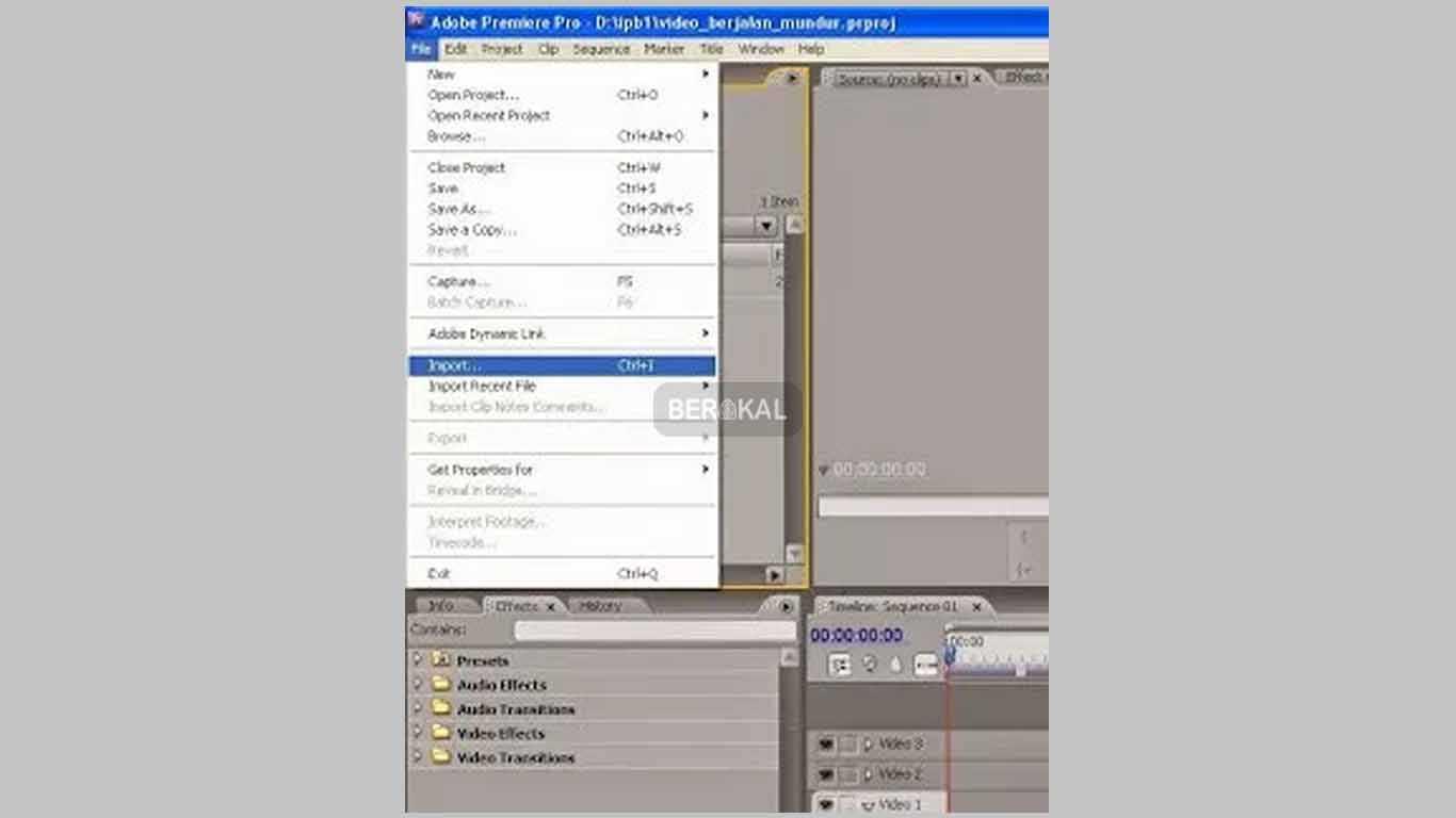 import video premiere cc