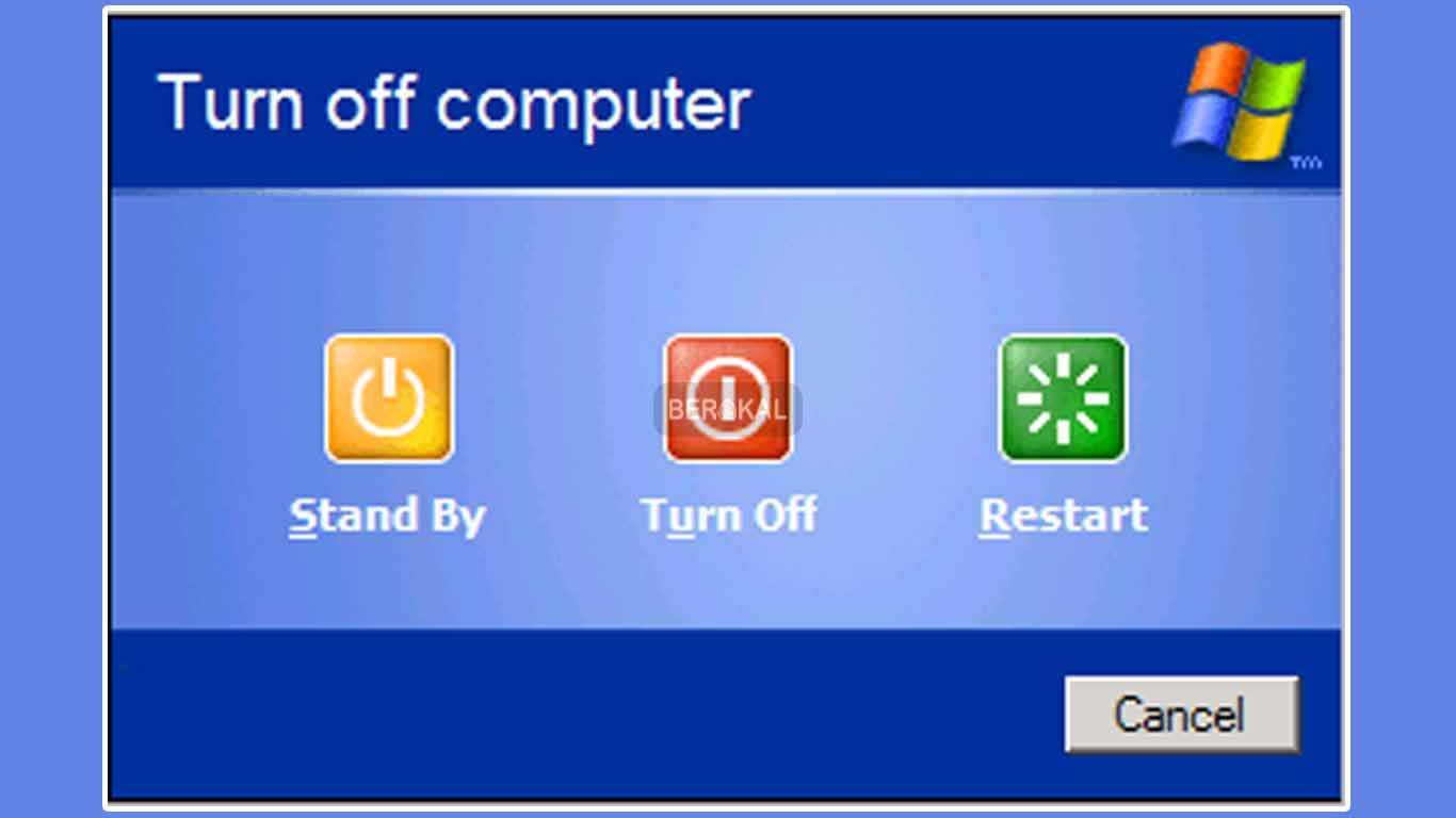 mematikan windows xp