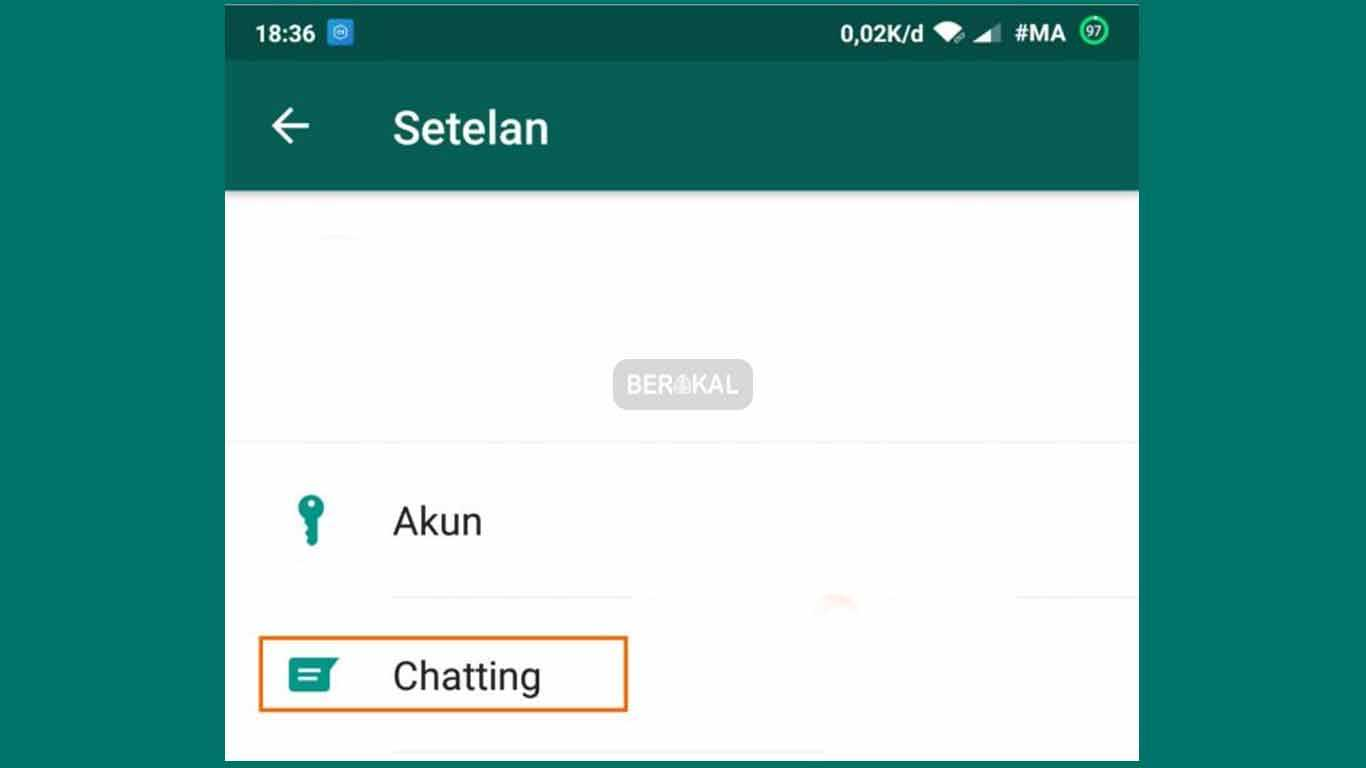 pengaturan chatting whatsapp