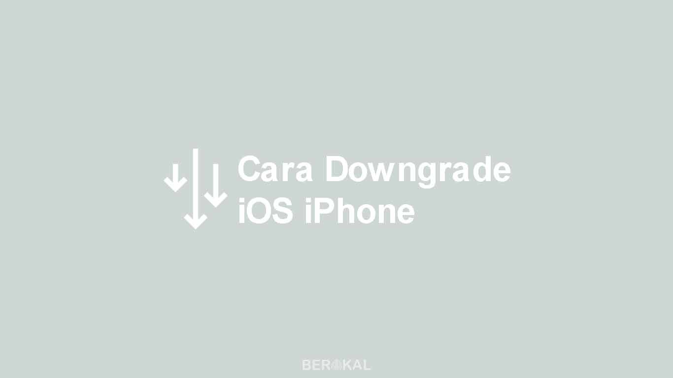 Cara Downgrade iOS