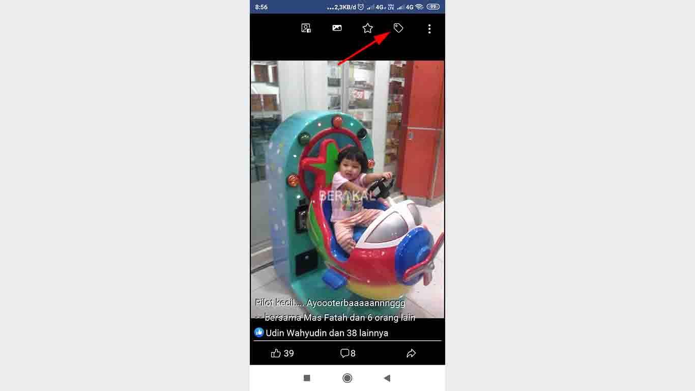 Menghilangkan Tanda Foto di Facebook Lite