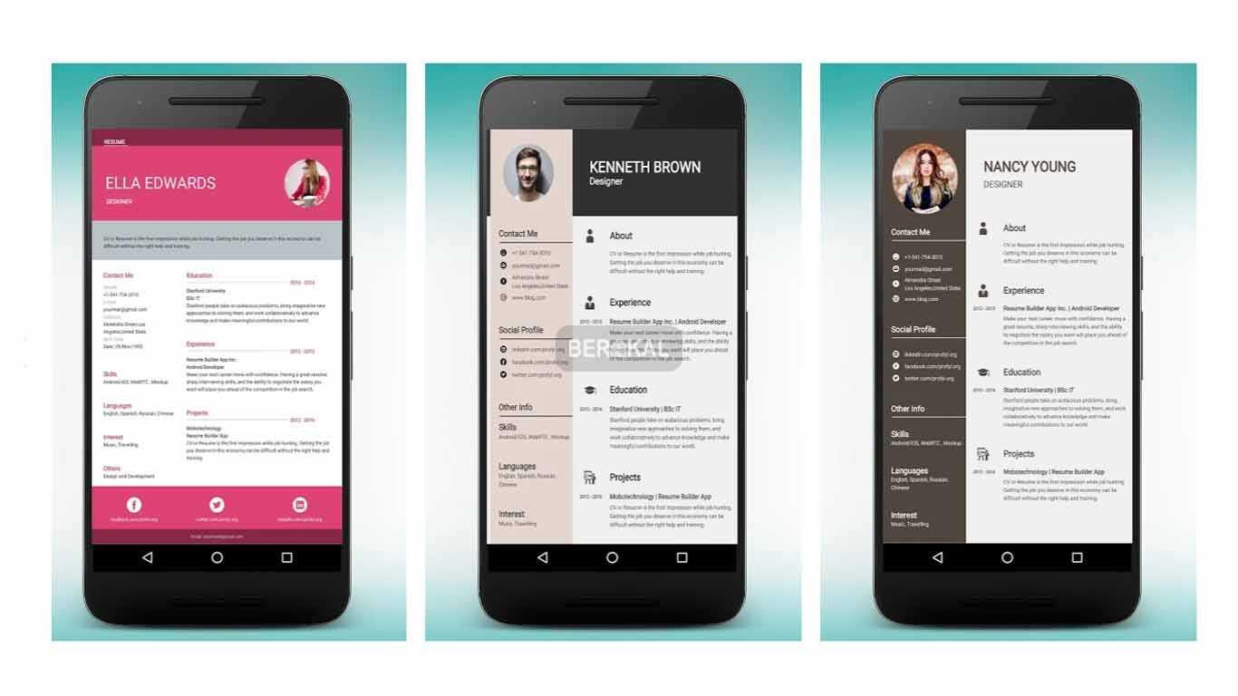 aplikasi membuat cv di android