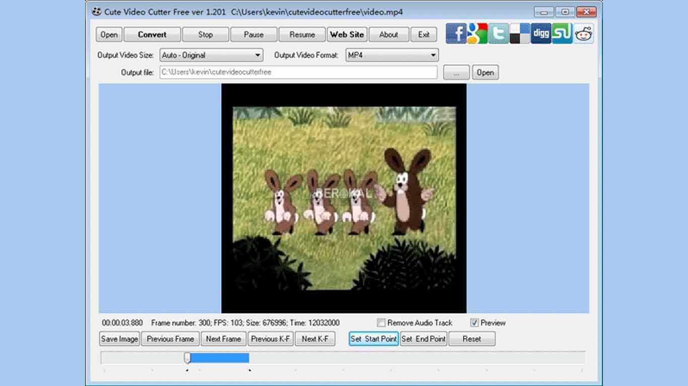 aplikasi pemotong video pc ringan