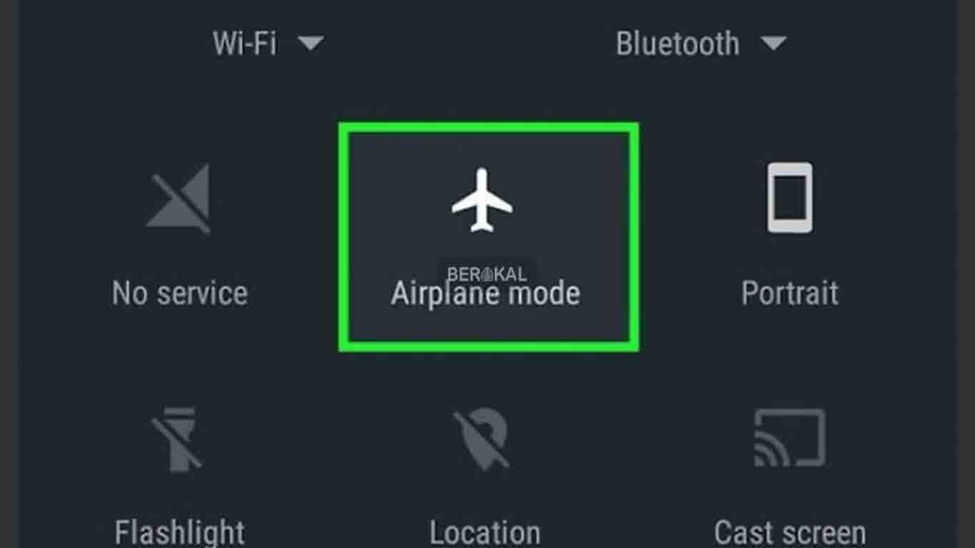 cara mengatasi masalah sambungan atau kode MMI tidak valid dengan mode pesawat