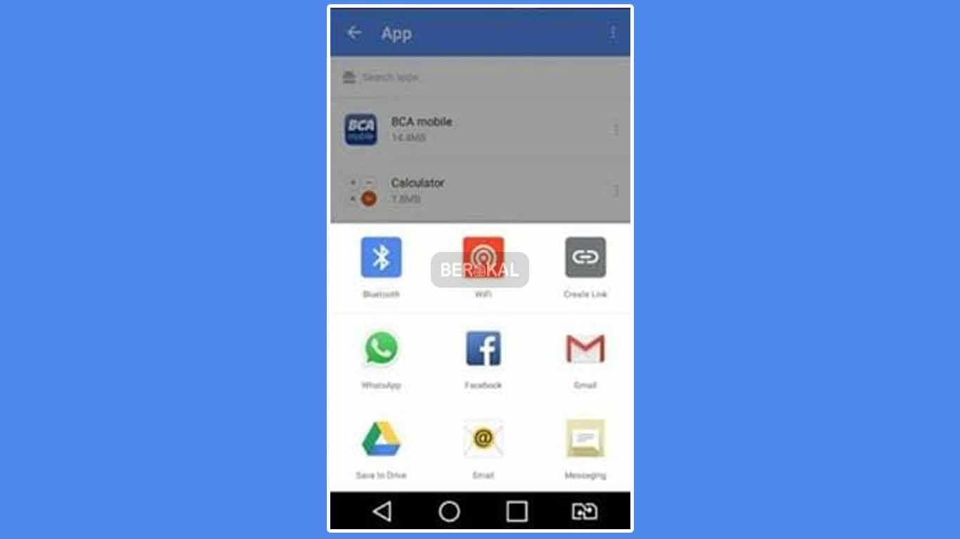 kirim aplikasi lewat bluetooth