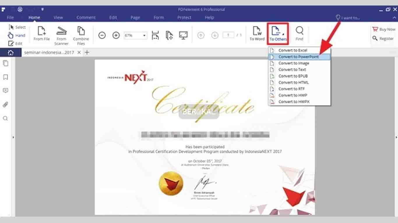 Cara Mengubah file di PDF Element