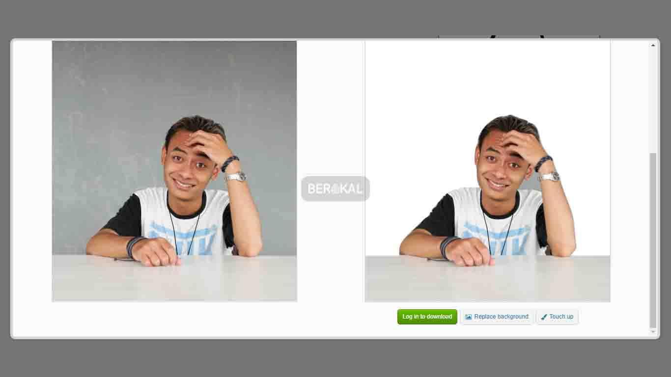 Ganti Background Foto Online di Background Burner