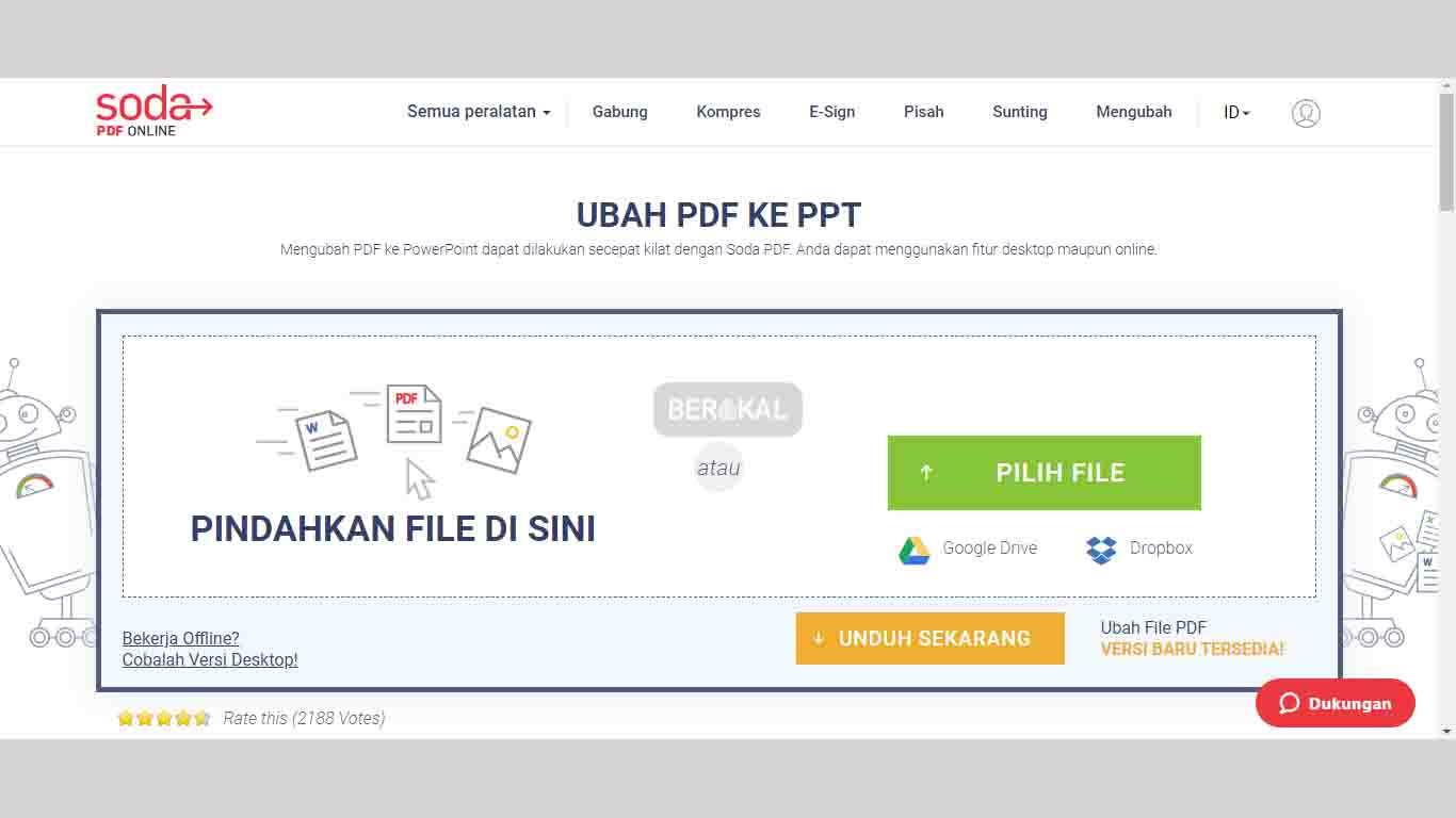 Mengubah File PDF ke PPT dengan SodaPDF