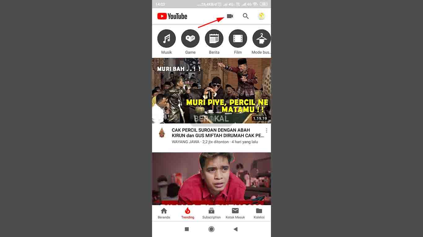 Upload Video di Aplikasi YouTube Android