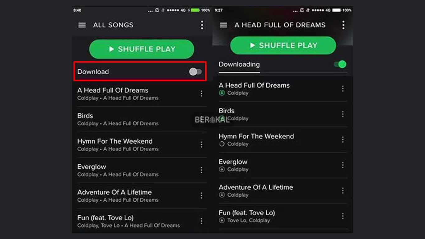 cara download lagu di spotify 2019