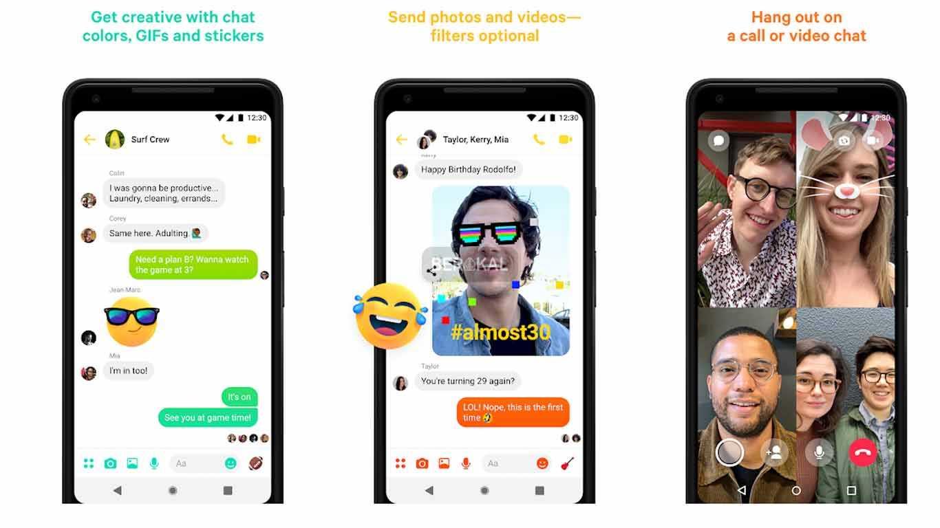 download aplikasi messenger video call