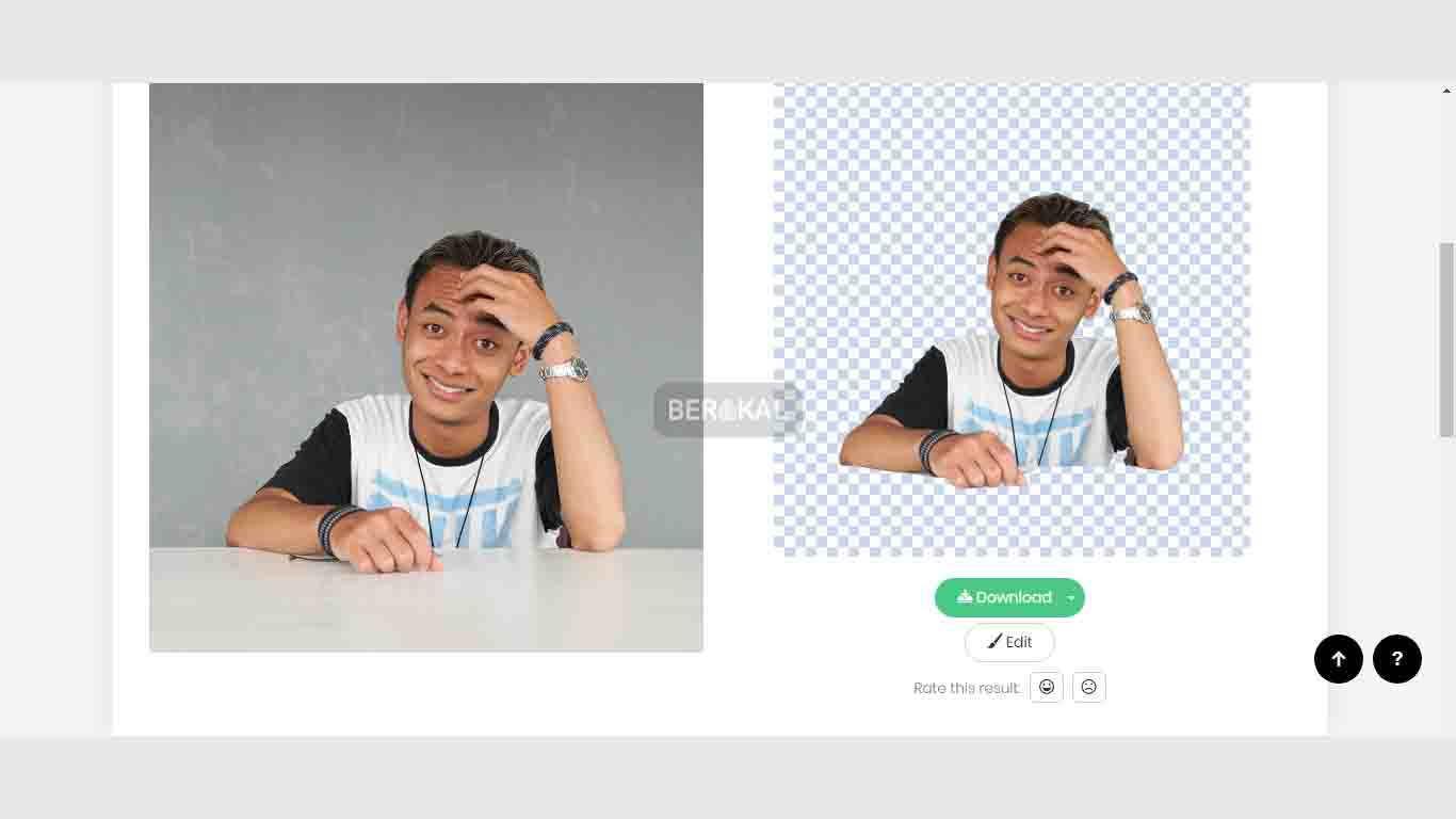 edit foto online dengan remove bg