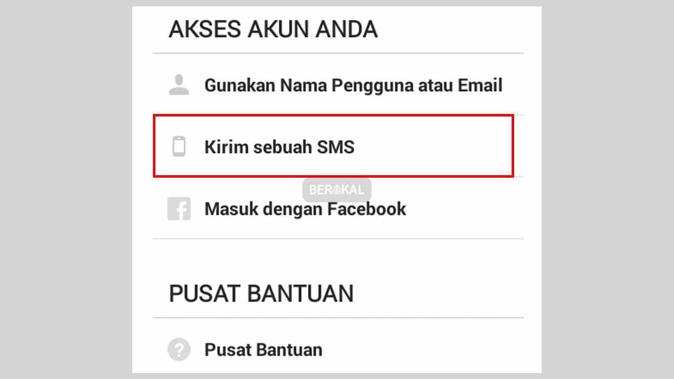 mengatasi lupa password instagram dengan sms