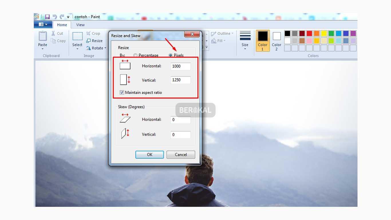 Cara Memperbesar Ukuran File jpg dengan Paint