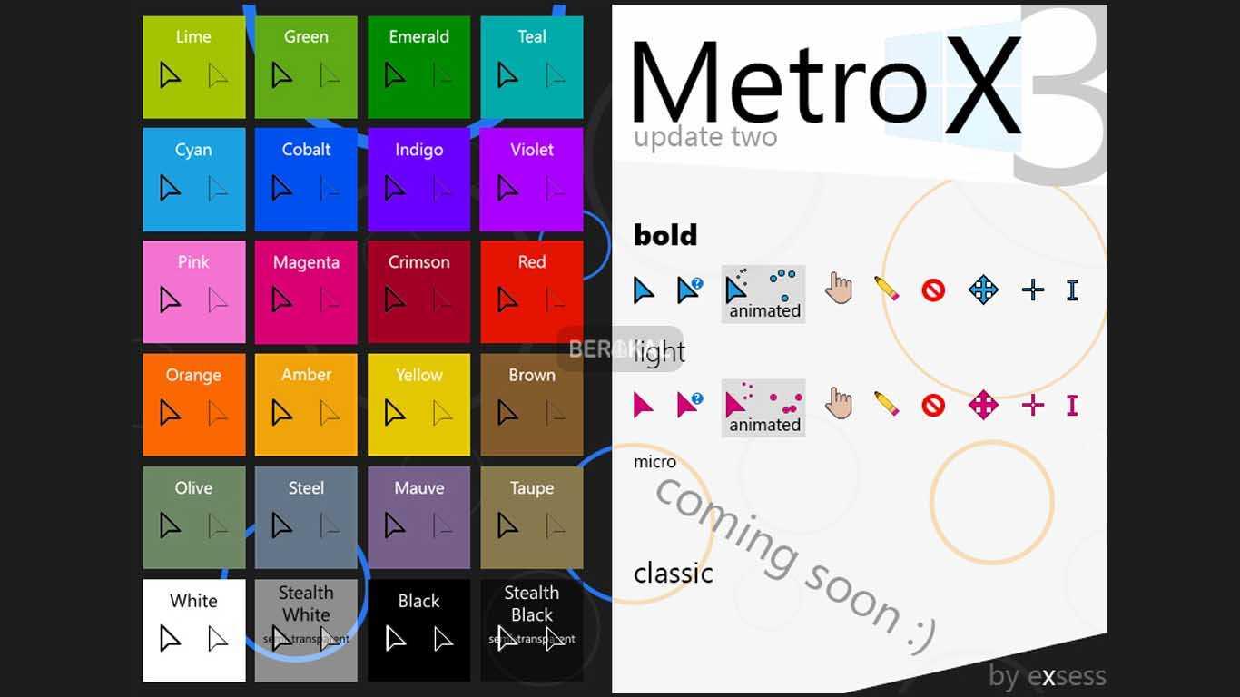Metro X3 Cursor Set