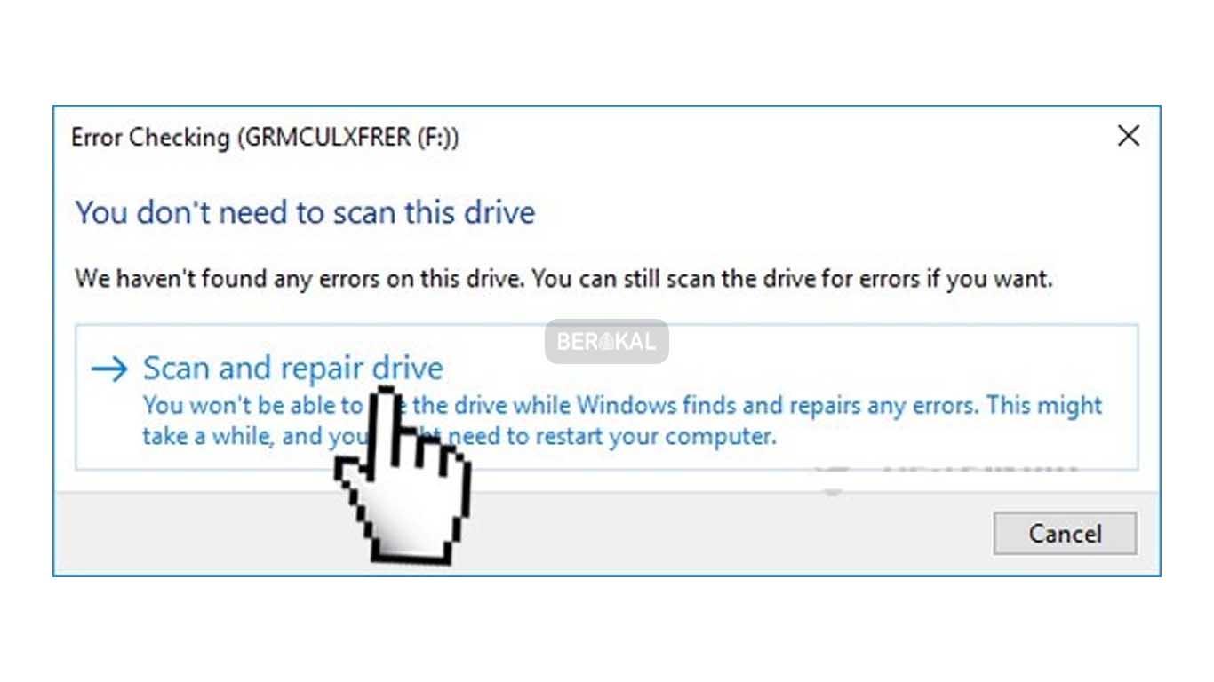Scan dan repair drive