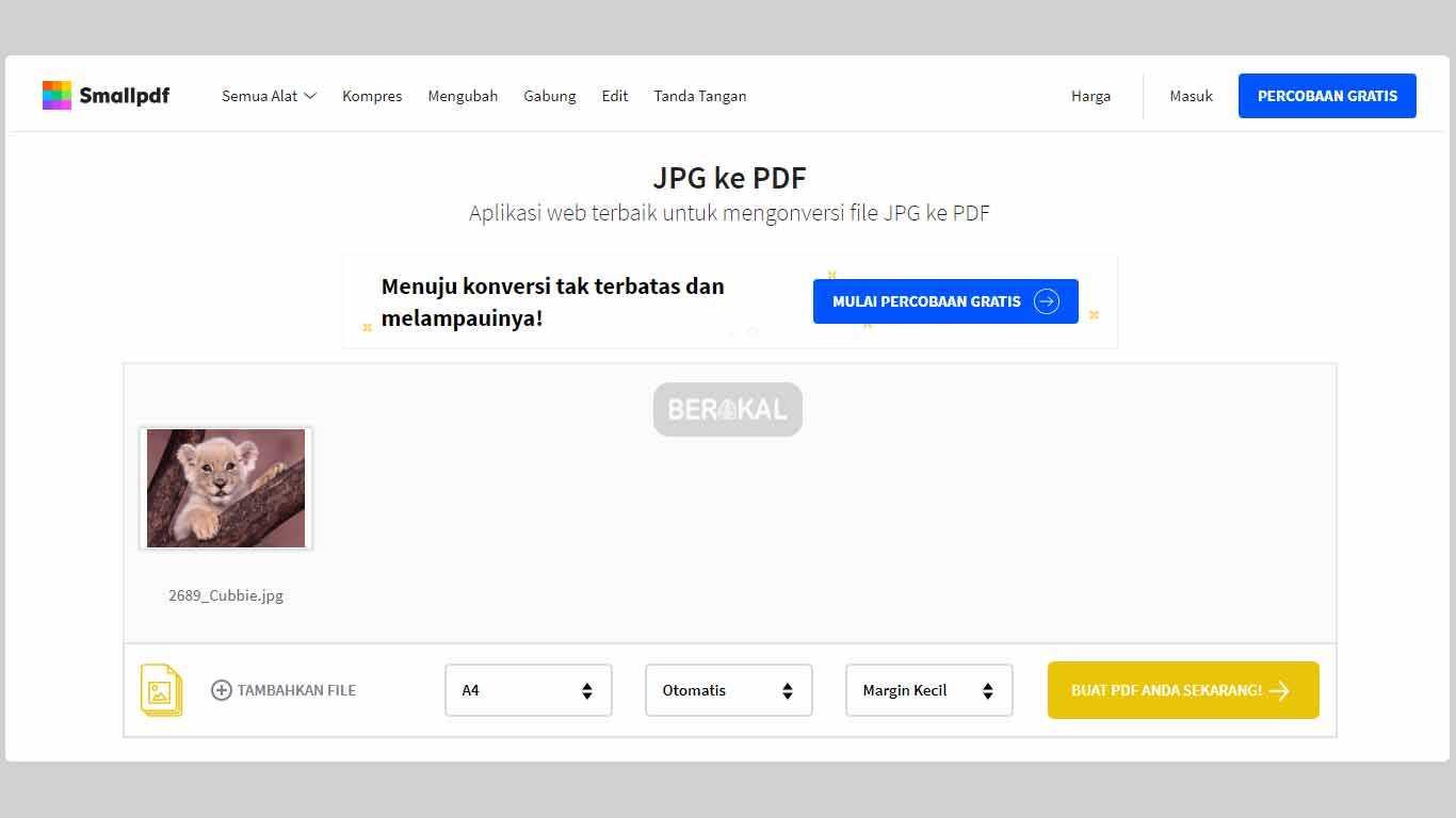 cara mengubah file jpg ke pdf online