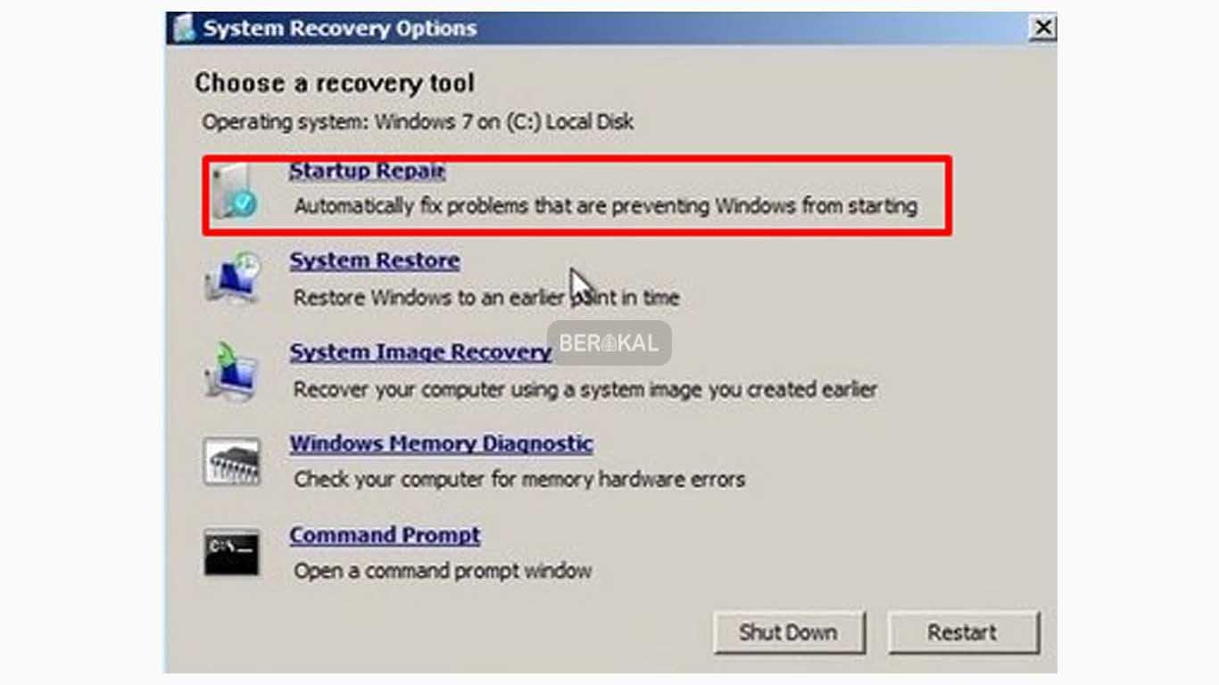 cara repair windows 7 tanpa hilang data