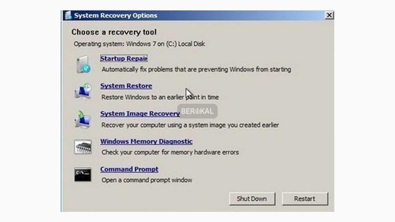 cara repair windows 7 tanpa menghilangkan data