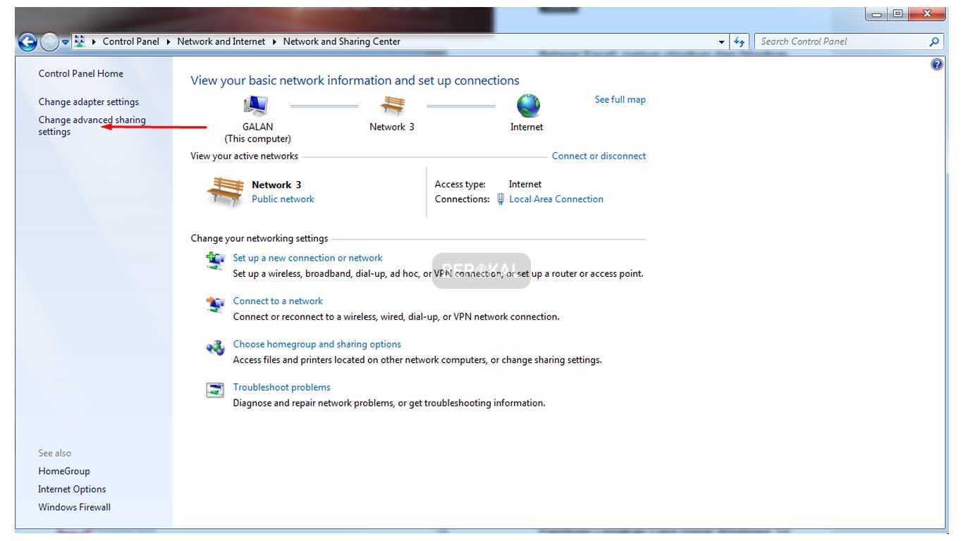 cara sharing folder di windows 7 tanpa password