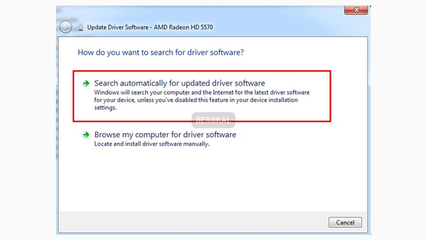 cara update driver acer
