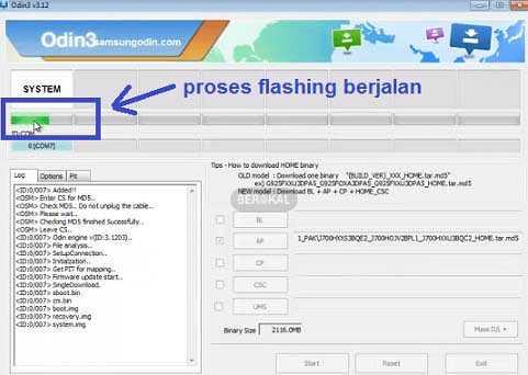 cara flash samsung j1 via odin