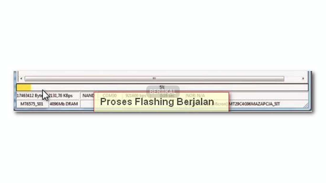 proses flashing berjalan