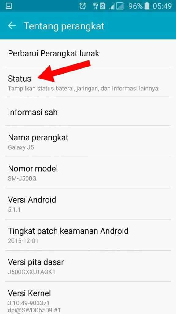 status ponsel