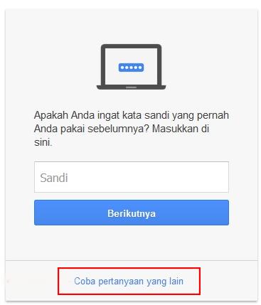 cara mengganti password gmail yang lupa di hp