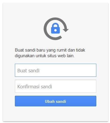 masukkan password gmail baru