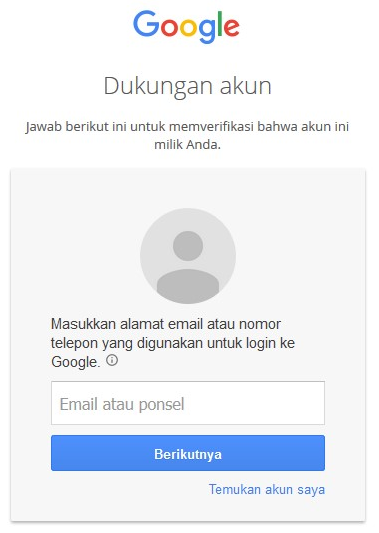 mengatasi lupa password gmail