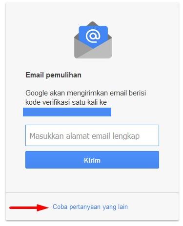 pertanyaan lupa password gmail