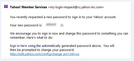 Password Yahoo Baru