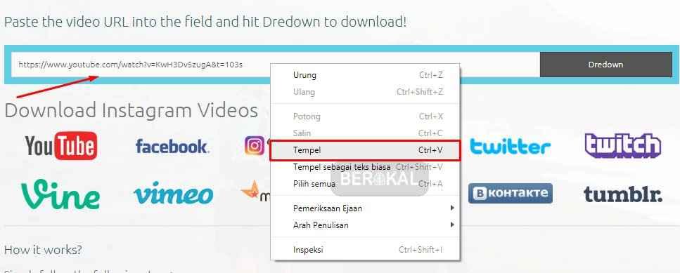cara download gambar di dredown