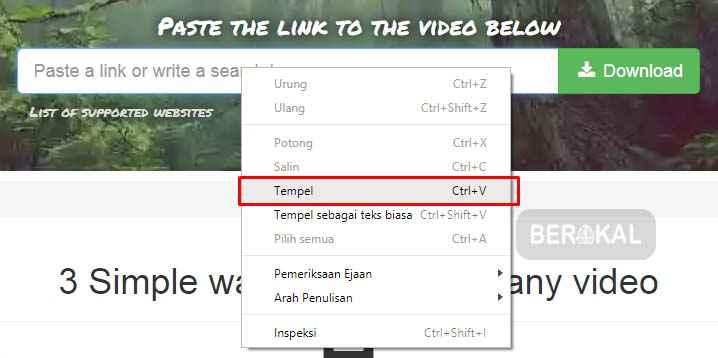 cara download video youtube lewat tubeninja