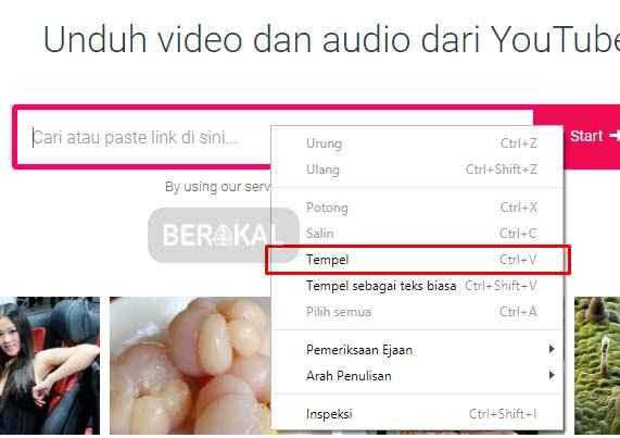 cara download video youtube lewat y2mate