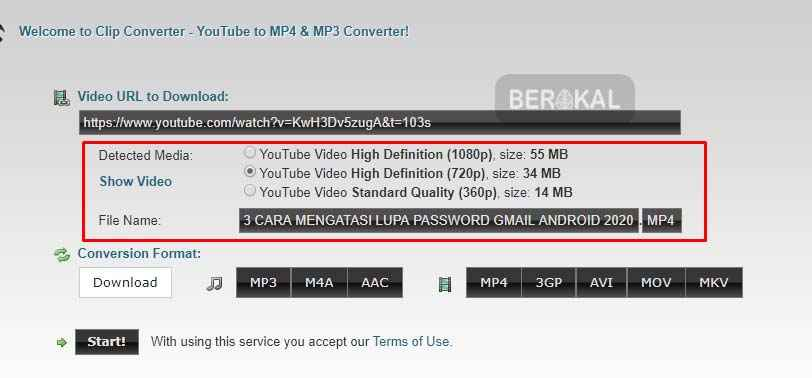 download mp4 di youtube