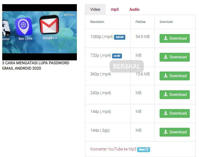 download video youtube hd