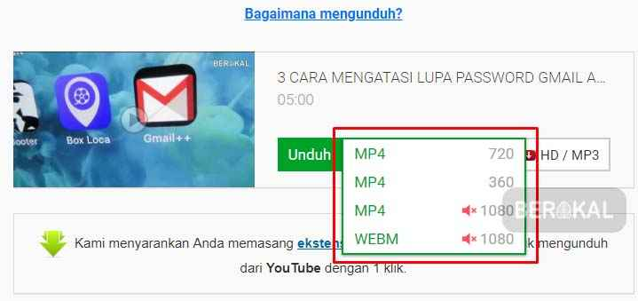 unduh video di youtube online