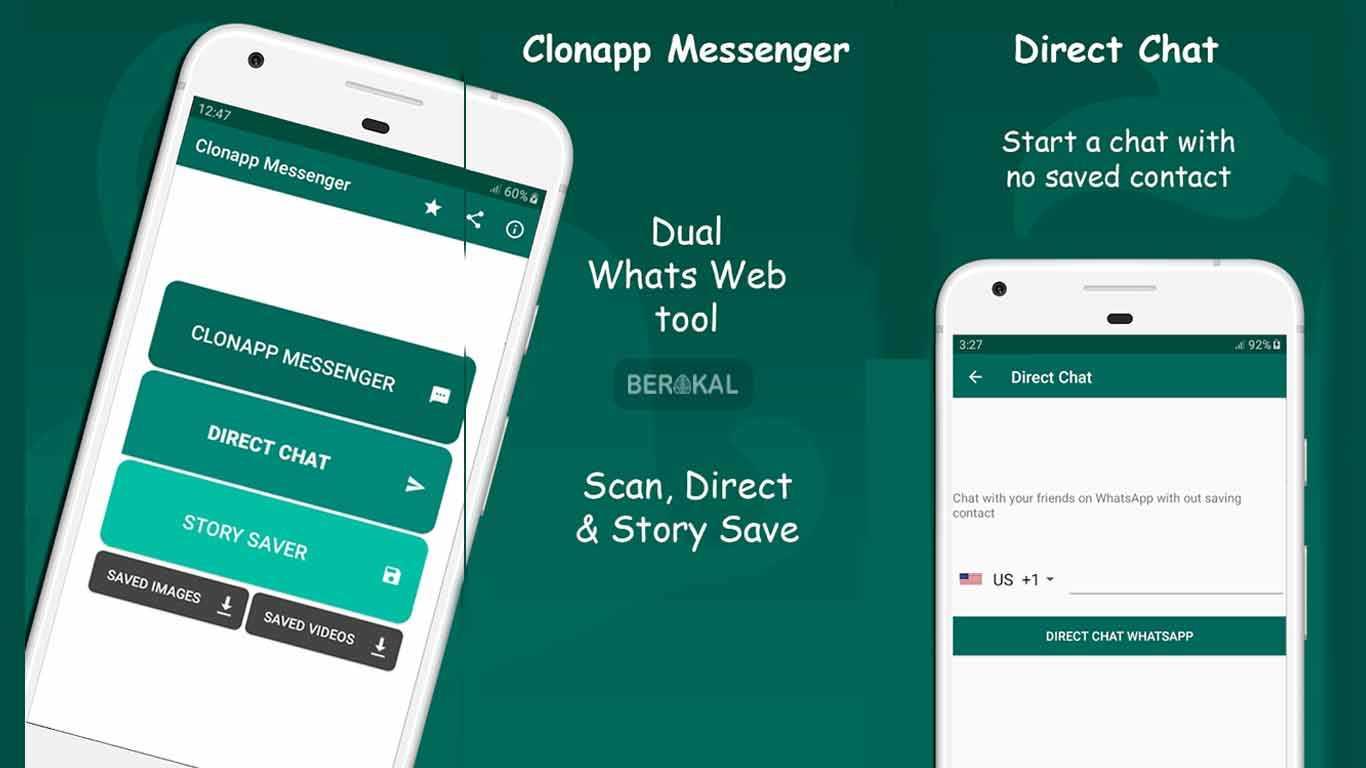 cara menyadap whatsapp dengan cloneapp messenger