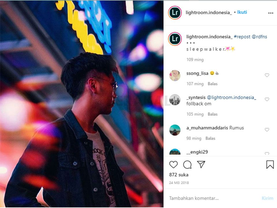 edit foto di instagram