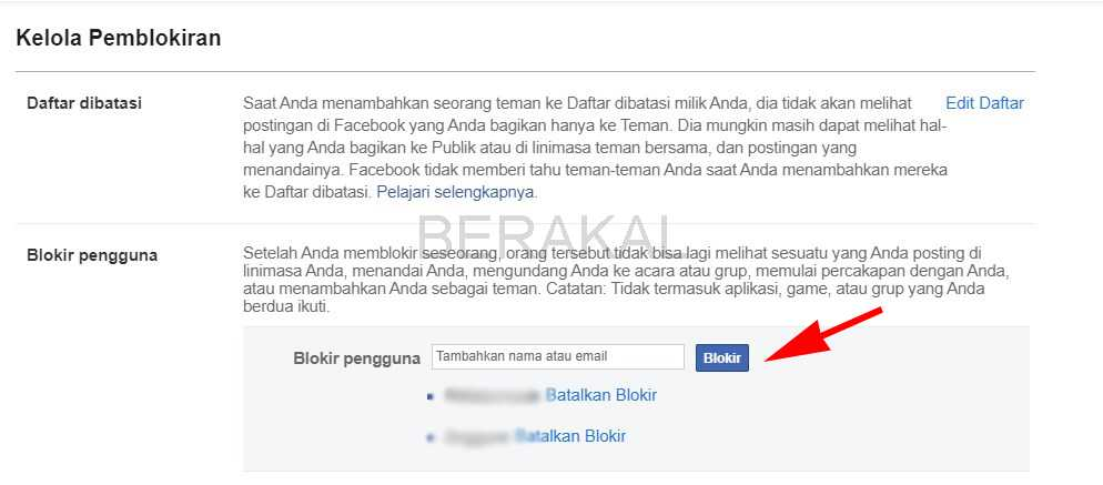 cara blokir facebook yang lupa kata sandi