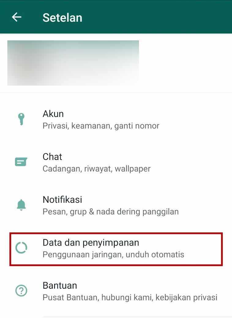 data dan penyimpanan whatsapp
