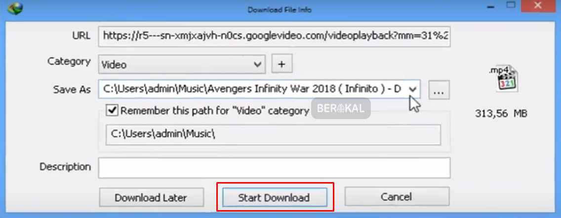 download video youtube menggunakan idm