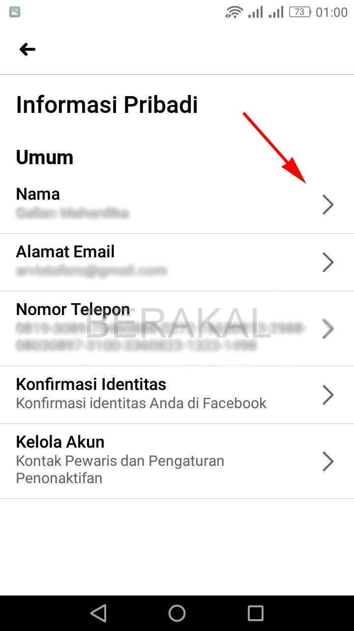nama facebook