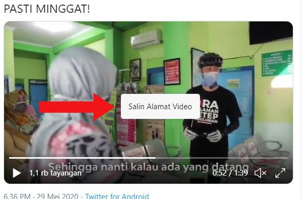 Link video Twitter